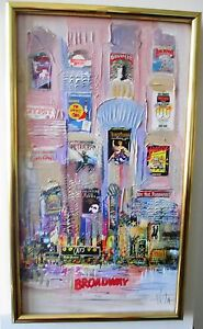 BROADWAY SHOWS ,OILS ON CANVAS BOARD, FRAMED, SIGNED BY ANITA