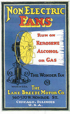 Lake Breeze Hot Air Fan Instruction Booklet Hit Miss Engine Steam Sterling Gas