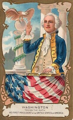 Vintage 1911 George Washington Taking The Oath As First President Of America