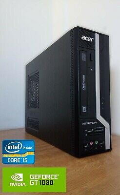 Acer i5 Quad Core Gaming PC. GT 1030. Windows 10. Fortnite. Fast Computer.