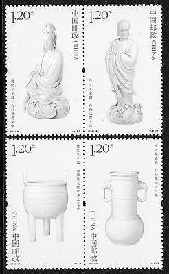 CHINA 2012-28 CHINESE CERAMICS - DEHUA PORCELAIN set of 4 stamps, Mint NH