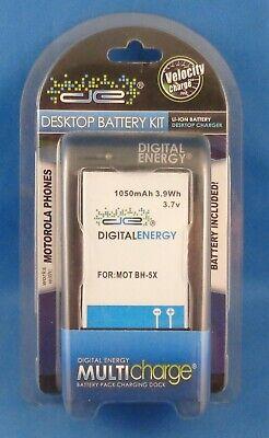 Phone Charger Kit - Digital Energy Desktop Charger and Battery Kit for Motorola Phones (MOT BH-5X)