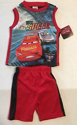 Toddler Baby Boys Disney's Cars Top Speed 2 Piece Outfit New 24 Month / 2T