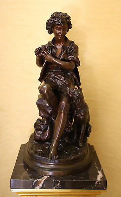 MAGNIFICENT 19 th c  FRENCH BRONZE BY EUGENE AIZELIN , MUSEAM PIECE BRONZE