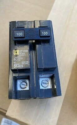 Square D Hom2100 Homeline 100-amp Two-pole Circuit Breaker New In Box.