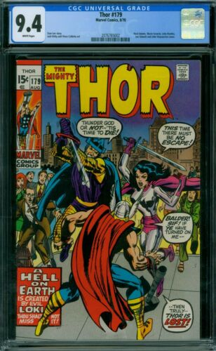 Thor 179 CGC 9.4 - White Pages