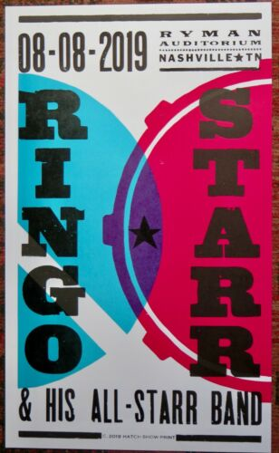 Ringo Starr and His All-Star Band Hatch Print Poster - Ryman August 8 2019