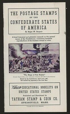 1941 Ta tham Stamp Co Booklett  RePrints Confederate Stamps