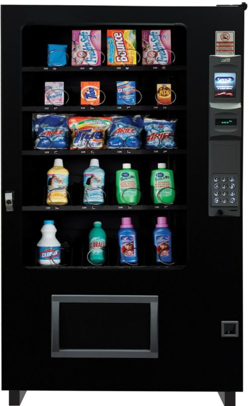Laundry Soap Dispensing Glass Front Vending Machine 4 Wide Brand New