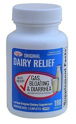 Original Caplets - Lactase Enzyme Generic Lactaid Original Strength 180 Caplets