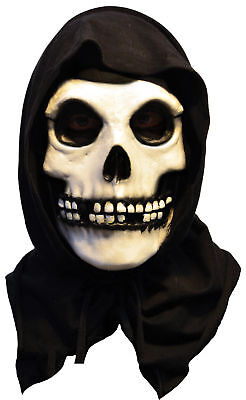 Misfits The Fiend Latex Mask Adult Skeleton Skull Face - Misfits Halloween Mask