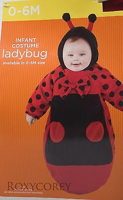 Halloween Infant Ladybug Bunting Costume Size 0-6 Months 25 in Height 14.5 lbs - Infant Halloween Costumes Bunting