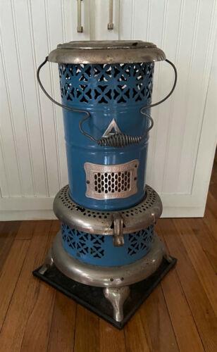 """Antique Vintage Blue Porcelain Enamel Perfection Oil Heater 1630 - 24"""""""