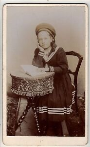 CDV - Victorian Young Girl in Sailors Dress