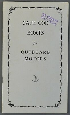 Rare 1928 Cape Cod Shipbuilding Boats Outboard Motors Booklet Catalog Price List