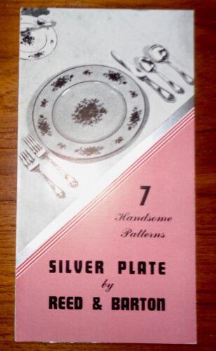 1941 Reed & Barton Silver Plate Pattern Brochure 7 patterns