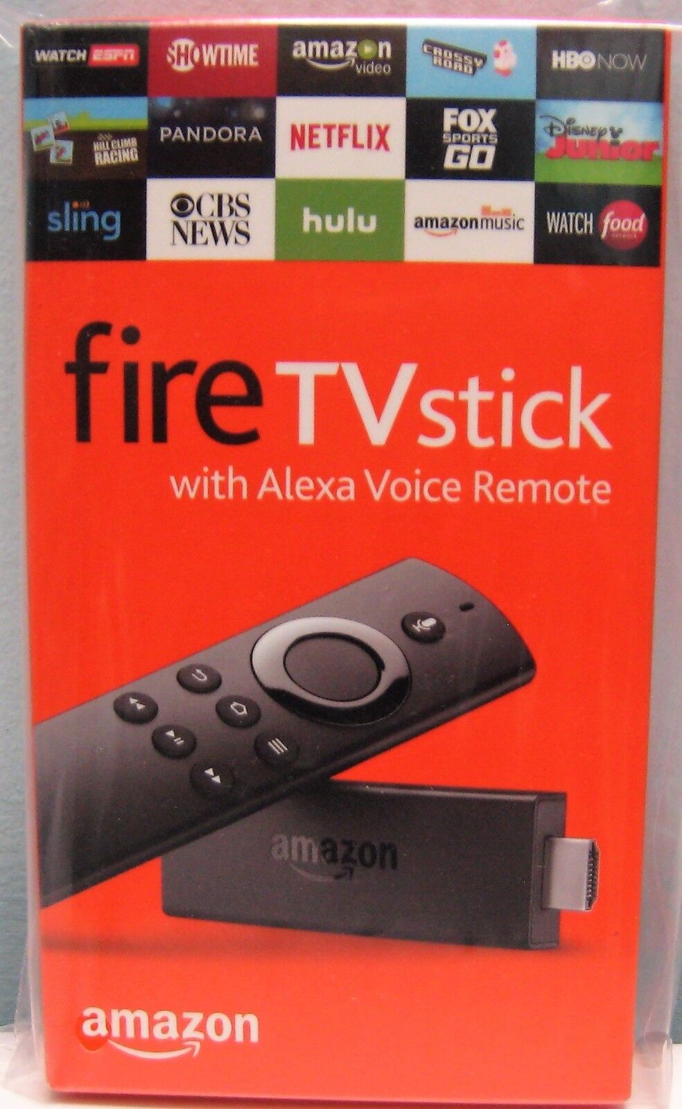 $39.95 - AMAZON FIRE TV STICK WITH ALEXA VOICE REMOTE NEWEST 2ND GENERATION , NEW IN BOX
