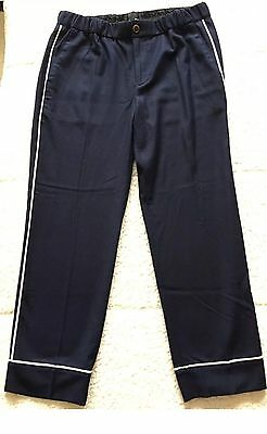 NWT JCREW Women's Party PJ Pant $89 Navy Size 6T #F8441 SOLD OUT
