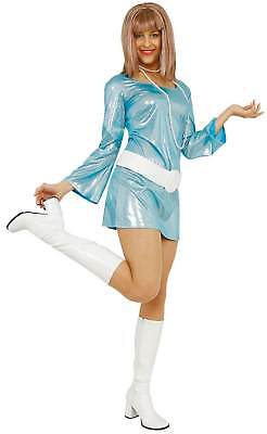 Sexy Discokleid Disco Kleid 70er Jahre Hellblau Karneval Fasching Kostüm - Sexy Disco Kostüm