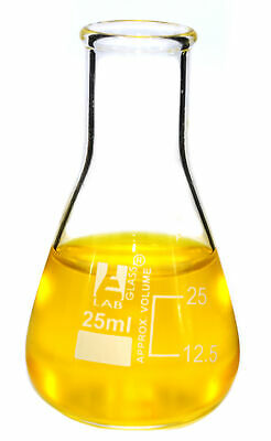 Eisco Labs Erlenmeyer Conical Flask Borosilicate 25ml Pack Of 12