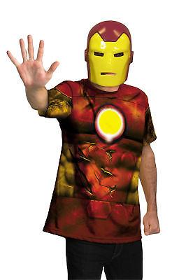 Erwachsene Avengers Kostüm (Iron Man Alternative Hemd und Maske Erwachsene Herren-Kostüm Avengers Film)