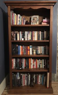 Solid pine bookcase in excellent condition
