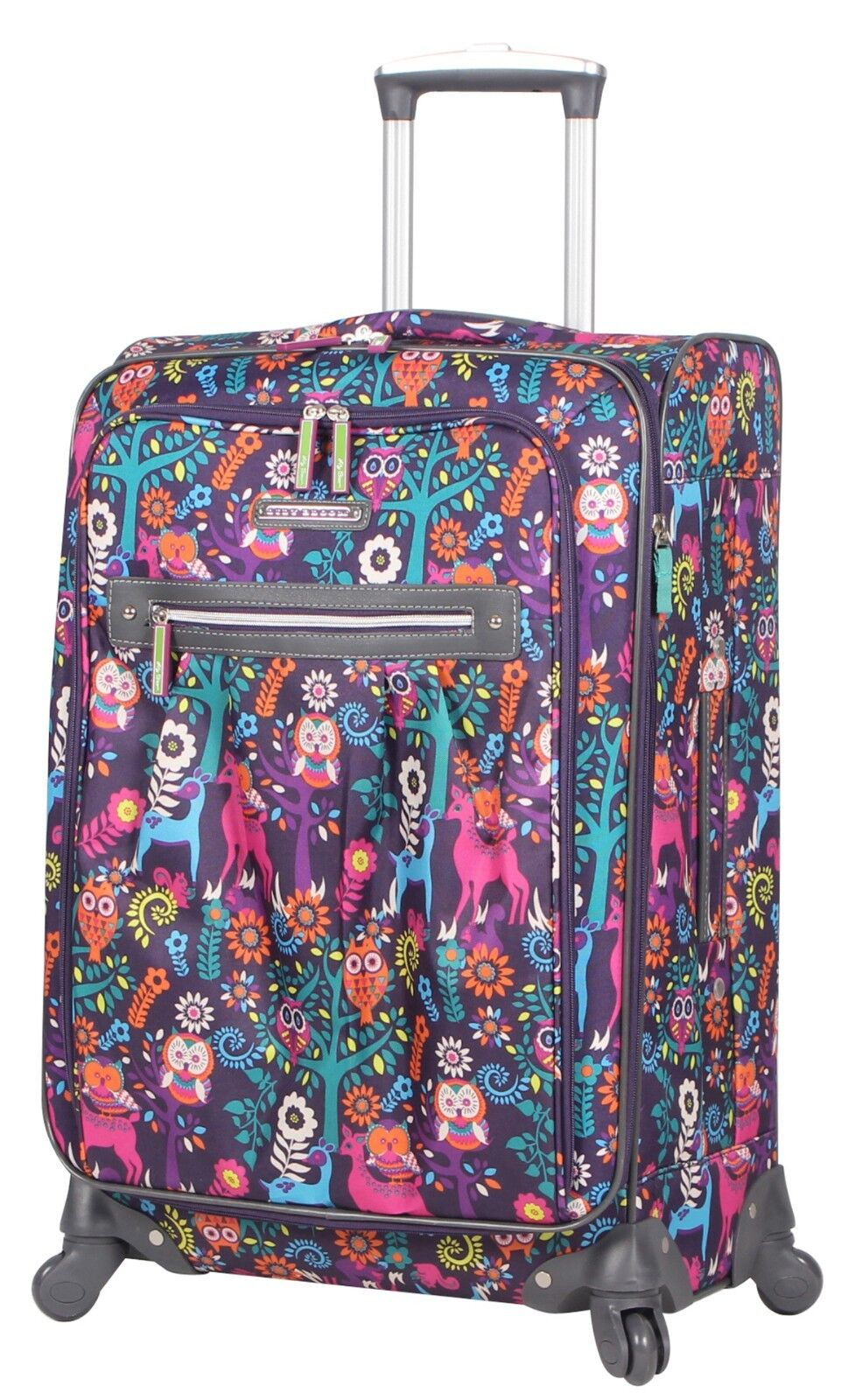 """Lily Bloom Midsize 24"""" Expandable Design Pattern Luggage Wit"""