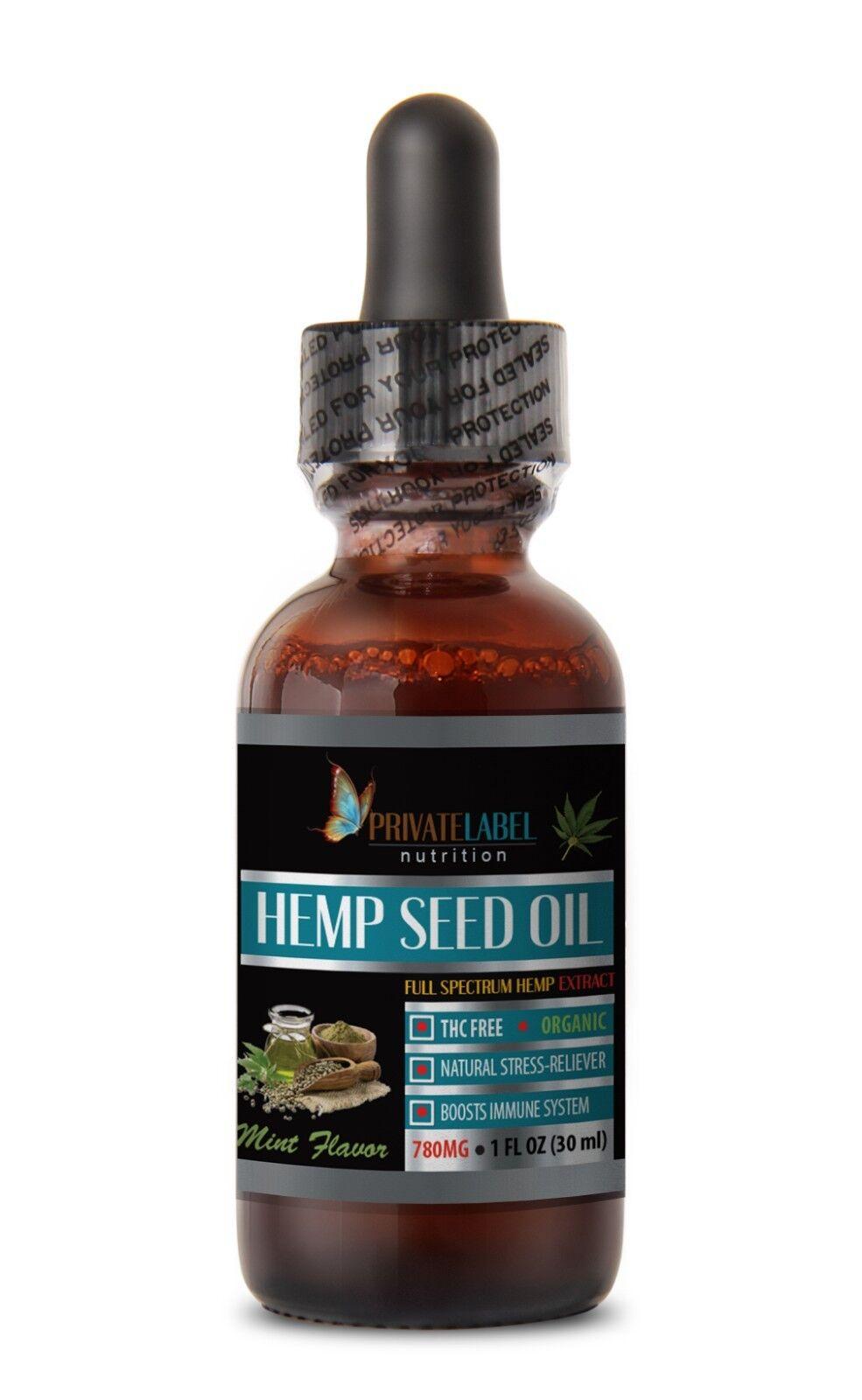 pain relief hemp oil - ORGANIC HEMP OIL DROPS 1oz - mint extract