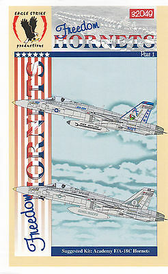 Eagle Strike 1/32 F-18 Freedom Hornets Decals Pt I Trumpeter Revell Hasegawa