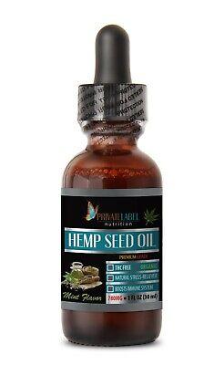 pain relief hemp oil - ORGANIC HEMP OIL DROPS 1oz - organic mint extract