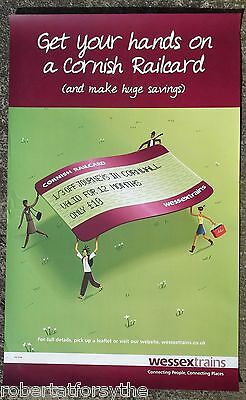 Wessex Trains Cornish Railcard  poster 2005 large B1 deceased operating company