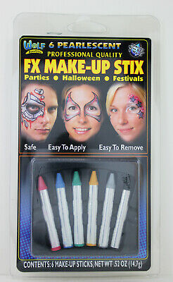 Wolf Makeup For Halloween (Wolfe Pearlescent FX Make-Up Sticks For Parties Festivals Halloween 6)