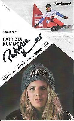 Autogramm AK Patrizia Patricia Kummer Snowboard Schweiz Olympiasiegerin Sotschi