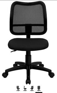 Mid-Back Mesh Task Chair With Black Fabric