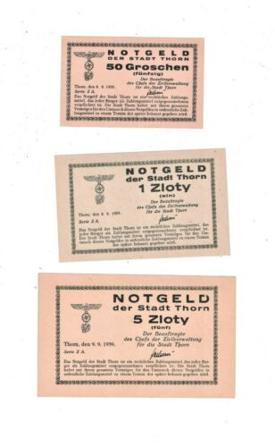 GERMAN OCCUPATION POLAND 1939 THORN PRISON CAMP NOTES