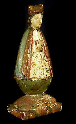 Sculpture de Saint en bois polychrome XIX España Espagne colonie Philippines ?