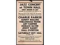 Thelonious Monk Retro 1959 Grand Masonic Auditorium SF Jazz Concert Poster