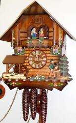 SCHNEIDER- 12 MUSICAL 1 DAY WOODCHOPPER CUCKOO CLOCK  MT 405/10