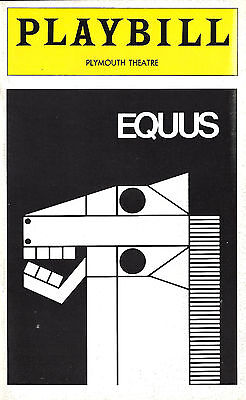 """Anthony Hopkins (Cast Signed) """"EQUUS"""" Peter Firth / Marian Seldes 1974 Playbill"""