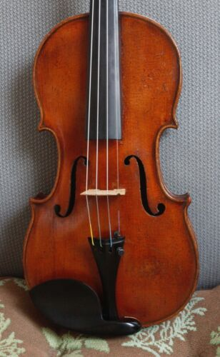 "Beautiful Old antique 4/4 violin labeled ""John Juzek"" c. 1920"