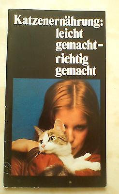 Katzenernährung leicht gemacht - richtig gemacht Broschüre