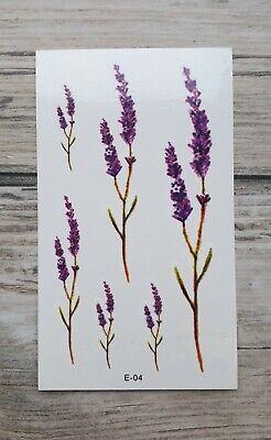 *UK SELLER* Purple Flower Lavender TEMPORARY TATTOOWaterproof Body Art /-a304-/ (Purple Flower Tattoo)