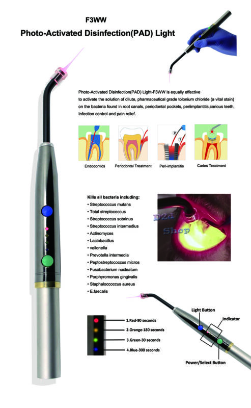 F3WW Dental Heal Laser Diode Rechargeable Hand-held Pain Relief Device