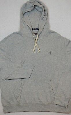 - Polo Ralph Lauren Hoodie Lightweight Hooded French Terry Sweatshirt Gray L NWT