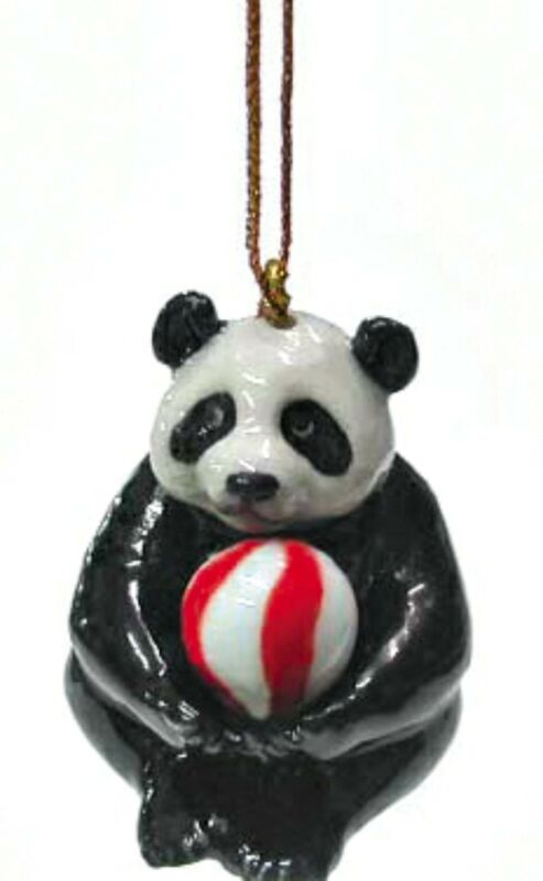 Northern+Rose+Porcelain+Christmas+Tree+Decoration+Panda+with+Ball+R306