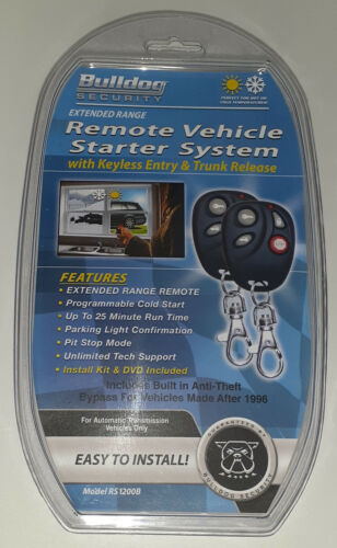 Bulldog Security Remote Vehicle Starter System Model RS1100 Keyless Entry New