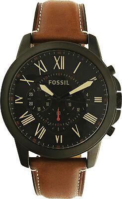 Fossil Men's Grant FS5241 Brown Leather Quartz Fashion Watch