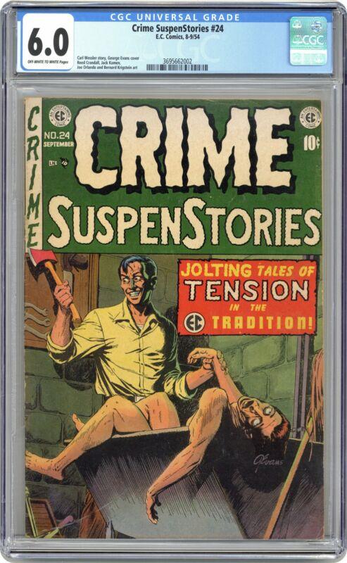 Crime Suspenstories #24 CGC 6.0 1954 3695662002