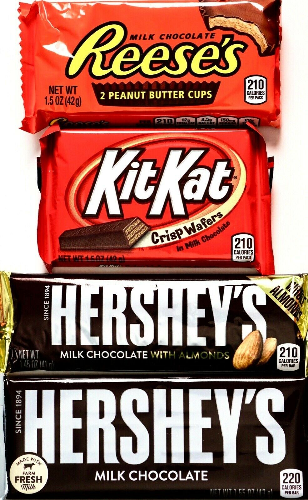 Hershey's Variety Full-Size Milk Chocolate Almonds Kit Kat R