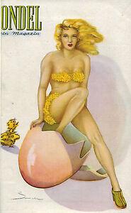 Jänicke, Gondel Mein Magazin, 5 Hefte im Festeinband, 1949/51, pin-up, Akt-Foto